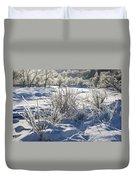 Frozen Winter Landscape Duvet Cover