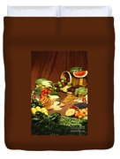 Fruit And Grain Food Group Duvet Cover