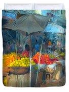 Fruit Market Duvet Cover