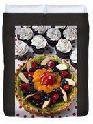 Fruit Tart Pie And Cupcakes  Duvet Cover by Garry Gay