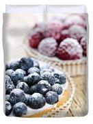 Fruit Tarts Duvet Cover