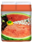 Fruits Depicting Kepler's Law Duvet Cover