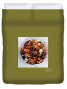 Fruity Tea With Bamboo Leaves Square Duvet Cover