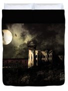 Full Moon Over Hard Time - San Quentin California State Prison - 7d18546 - Partial Sepia Duvet Cover
