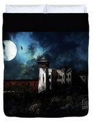 Full Moon Over Hard Time - San Quentin California State Prison - 7d18546 Duvet Cover