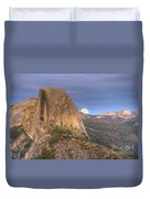 Full Moon Rise Behind Half Dome 2 Duvet Cover