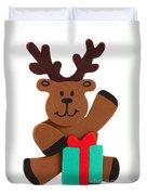 Fun Reindeer Sitting Duvet Cover