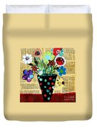 Funky Flowers Duvet Cover