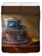 Furniture - Hat Boxes With Billow Duvet Cover