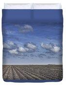 Furrows In A Texas Field Duvet Cover
