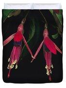 Fuschia Flowers Atlantic Forest Duvet Cover