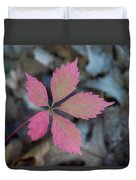 Fushia Leaf 2 Duvet Cover