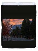 G Street Sunrise In Our Town Duvet Cover