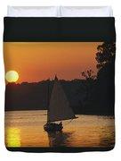 Gaff-rigged Catboat Sails Duvet Cover