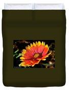 Gaillardia Flower Duvet Cover