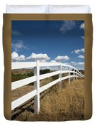 Galloping Fence Duvet Cover