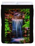 Garden Falls Fractalized Duvet Cover