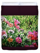 Garden Flowers Sketchbook Project Down My Street Duvet Cover