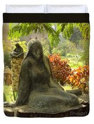 Garden Of Statues Egypt Duvet Cover