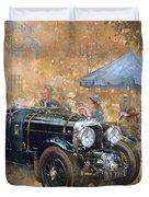 Garden Party With The Bentley Duvet Cover