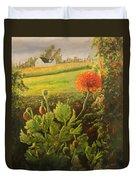 Garden Poppies Duvet Cover