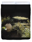 Garden Urns In A Garden Duvet Cover