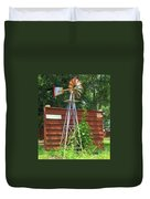 Garden Windmill Duvet Cover