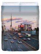 Gardiner Expressway Toronto Duvet Cover