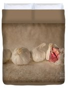 Garlic And Textures Duvet Cover
