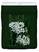 Garlic Chive Blooms Duvet Cover