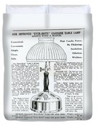 Gas Lamp Ad Duvet Cover