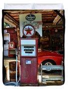 Gas Pump - Texaco Gas Globe Duvet Cover