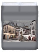 Gasthaus And Church-colour Duvet Cover