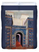 Gate Of Ishtar, Babylonia Duvet Cover by Photo Researchers