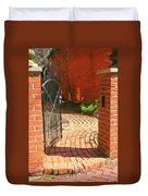 Gateway To A Garden Duvet Cover