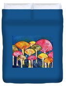 Gathering Of The Colors Duvet Cover