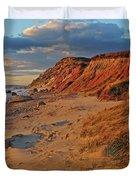 Gayhead Cliffs Marthas Vineyard Duvet Cover