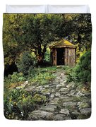 Gazebo And Path, Ballinlough Castle, Co Duvet Cover
