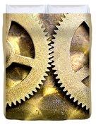 Gears From Inside A Wind-up Clock Duvet Cover by John Short