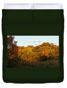Geese Flight Duvet Cover