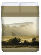 Geese Mist And Sun Duvet Cover
