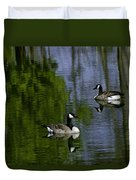 Geese On The Pond Duvet Cover