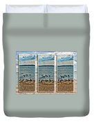 Geese Point Landing Triptych Duvet Cover