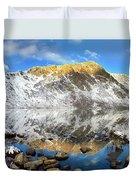 Geissler Mountain In Linkins Lake Duvet Cover