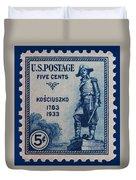 General Kosciuszko Postage Stamp Duvet Cover