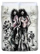 Genes And Roses Duvet Cover by Rachel Christine Nowicki