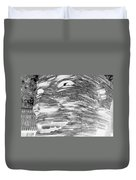 Gentle Giant In Negative Black And White Duvet Cover