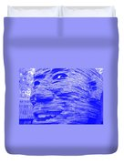 Gentle Giant In Negative Blue Duvet Cover
