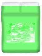 Gentle Giant In Negative Light Green Duvet Cover