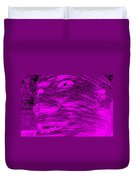 Gentle Giant In Negative Purple Duvet Cover